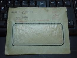 Enveloppe à Fenêtre CREDIT LYONNAIS Agence D'AMIENS 21 Mai 1948 - Advertising