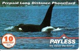Baleine Carte Prépayée Canada Phonecard  (G 89) - Canada