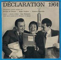 DISQUE 33 TOURS 1/3 PUBLICITAIRE DECLARATION 1964 GEORGES DE CAUNES ROGER COUDERC SUZANNE GABRIELLO AIDE MEMOIRE FISCAL - Formats Spéciaux