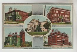 CPSM NEW ROCHELLE (Etats Unis-New York) - Group Of Public School Buildings : 5 Vues - NY - New York