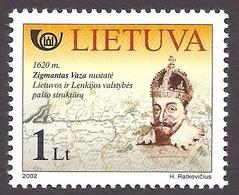 Lithuania / Lietuva 2002 Postal History - Zigmantas Vaza, Portrait, Ancient Map MNH - Lituanie
