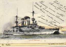 S.M.S. Zahringen Colorisée RV - Guerre