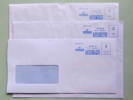Gran Bretagna, Pitney Bowes, Neopost, 1st, 2nd, Su 5 Buste, Ema, Meter, Affrancatura Meccanica, Freistempel - Machine Stamps (ATM)