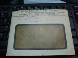 Enveloppe à Fenêtre Accumulateurs Et Transformateurs électriques  PARIS.31 MAI 1938 Verso Champs Bataille Somme ALBERT - Publicités