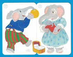 2 CARTES ELEPHANT  / AU DOS CHAT - Cartes à Jouer Classiques