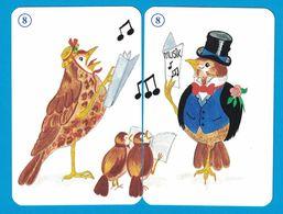 2 CARTES ROSSIGNOL  / AU DOS CHAT - Cartes à Jouer Classiques