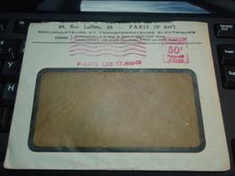 Enveloppe à Fenêtre Accumulateurs Et Transformateurs électriques  PARIS.17 JANV 1938 Verso Champs Bataille Somme ALBERT - Publicités