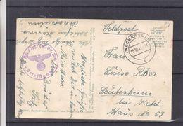 Allemagne - Feldpost - Carte Postale De 1941 - Oblit Neckarsulm - Exp Vers Leutesheim - Avec Censure - Photo Militaires - Allemagne