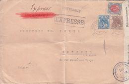 Pays Bas - Lettre Exprès De 1917 ° - Oblit 's Gravenhaghe - Exp Vers Bruxelles - Avec Censure - Avec Griffe BRIEVENBUS - Lettres & Documents