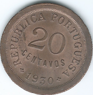 Cape Verde - Portuguese - 1930 - 20 Centavos - KM3 - UNC - Cape Verde