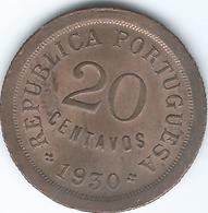 Cape Verde - Portuguese - 1930 - 20 Centavos - KM3 - UNC - Cap Vert