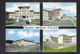 CPSM 30 - ALES - Centre Médical D'ALES - TB CP Multivue Dont Détails Du Bâtiment De Santé AUTOMOBILE TUBE CITROEN 1967 - Alès