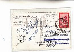 Casablanca Per Firenze Italy Poi Rispedita A Premilcuore Forli 1960 - Maroc (1956-...)