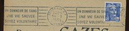 FRANCE - M. DE GANDON - N° Yvert 886 SUR ENVELOPPE (BORDEAUX RP 1955) - 1945-54 Marianne De Gandon