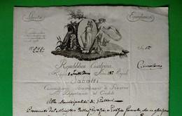 D-IT Repubblica Cisalpina 1801 Reggio Emilia Alla Municipalità Di Gualtieri - Documenti Storici