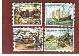 STATI UNITI (U.S.A.) - SG 2655.2658  - 1992 500^ ANNIV. OF AMERICA DISCOVERY BY COLOMBO (COMPLET SET OF 4)  USED - Used Stamps