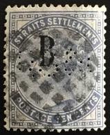 1883 British PO In Siam Bangkok Opt Straits Settlements QV 10c SG#21 CV£95 Q124 - Straits Settlements