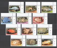 L628 2013 ASCENSION,FALKLAND ISLANDS,SOUTH GEORGIA FISH MARINE LIFE !!! MICHEL 38 EURO !!! 3SET MNH - Vie Marine