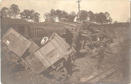 Dépt 01 - MIRIBEL - Les Échets - CARTE-PHOTO Catastrophe Ferroviaire Du 10 Septembre 1921 (accident, Train, Locomotive) - France