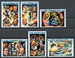 Comoros, Comores, 1975, Space, Apollo, Soyuz, MNH, Michel 248-253A - Comores (1975-...)