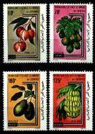 Comoros, Comores, 1979, Fruits, Banana, Papaya, Avocado, Lychee, MNH, Michel 562-565 - Comores (1975-...)