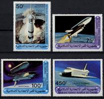 Comoros, Comores, 1981, Space, Space Shuttle, MNH, Michel 625-628 - Comores (1975-...)
