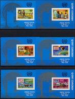 Comoros, Comores, 1976, United Nations, UNPA, Concorde, Zeppelin, Space, MNH Imperforated, Michel Block 45-50B - Comores (1975-...)