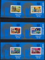Comoros, Comores, 1976, United Nations, UNPA, Concorde, Zeppelin, Space, MNH Perforated, Michel Block 45-50A - Comores (1975-...)