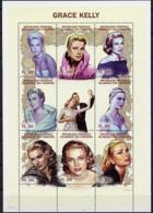 Comoros, Comores, 1998, Grace Kelly, Actress, Film, MNH Sheet, Michel 1294-1301 - Comores (1975-...)