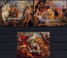 Comoros, Comores, 1977, Rubens, Paintings, Art, MNH Sheets, Michel Block 156-158 - Comores (1975-...)
