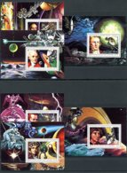 Comoros, Comores, 1979, Space, Solar System, Galilei, Copernicus, MNH Sheets, Michel 503-508A - Comores (1975-...)
