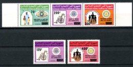 Comoros, Comores, 1988, Charity, Kiwanis, Lions, Rotary, MNH Overprinted, Michel 839-843 - Comores (1975-...)