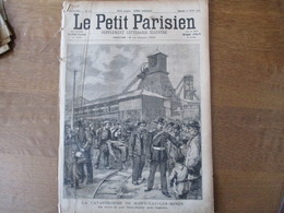 """LE PETIT PARISIEN DU 17 FEVRIER 1895 LA CATASTROPHE DE MONCEAU-LES-MINES,LE PAQUEBOT """"LA GASCOGNE"""",PRISE DU FORT HOVA TA - 1850 - 1899"""