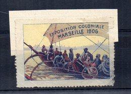 1906 -  ETICHETTA - ERINNOFILO - Esposizione Coloniale Di Marsiglia - (FDC14623) - Erinnophilie