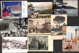 Italie Italia - Lot 9 Cartes (animation, Guggenheim, Hotel, Timbre...) - Italia