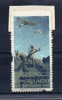 Italia - Verona - 1910 -  ETICHETTA - ERINNOFILO - Concorsi Aerei - (FDC14624) - Erinnophilie