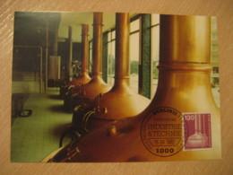 BERLIN 1982 Brauanlage Maxi Maximum Card GERMANY Bier Beer Pint Biere Cerveza Brewery - Biere