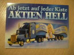 Aktien Hell Truck Post Card GERMANY Bier Beer Pint Biere Cerveza Brewery - Publicidad
