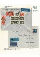 LUXEMBOURG BELGIUM COMBINATION STAMPS AIR 1939 EQUADOR WILTZ - Covers & Documents