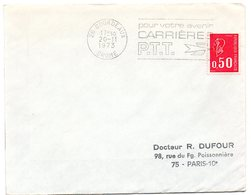 DROME - Dépt N° 26 = BOURDEAUX 1973 =  FLAMME à DROITE = SECAP Multiple ' CARRIERES PTT / Pour Votre Avenir ' - Marcophilie (Lettres)