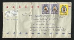 Qatar Registered Air Mail Postal Used Cover Doha To Pakistan AS Per Sacan - Qatar
