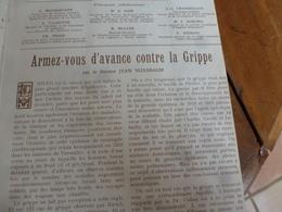 1932  VIE Et SANTÉ:  La Terrible Grippe De 1918-1919 (espagnole) Transmise De Manière Extrêmement Rapide;etc - 1900 - 1949