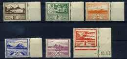 II. WK. JERSEY 1943 Nr 3-8 Postfrisch (113749) - Besetzungen 1938-45