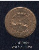 FAO 250 Fils O 1/4 Dinar 1969 Giordania Jordan - Giordania