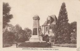 CPA - France - (21) Côte D'Or - Auxonne - Le Monument Dans Le Square - Auxonne