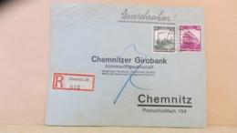 DR: Orts-R-Brief Mit 6 U. 40 Pf Eisenbahn An Girobank Aus Chemnitz 20 (616) Vom 30.7.35 Knr: 583, 580 - Germania