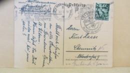 DR: Fern-Karte Mit 6 Pf Fackelträger Mit MWSt. Reichsparteitag Und SoSt. Aus Nürnberg Vom 30.1.38 Und 9.2.38 Knr: 660 - Briefe U. Dokumente