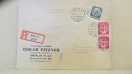 DR: Fern-R-Doppel-Bf Mit 12 Pf SAAR MiF, Von Tischlermeister Aus Berlin 54 (258) V. 10.9.34 Nach Chemnitz Knr: 52,545(2) - Briefe U. Dokumente