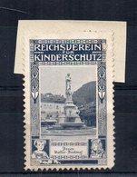 ETICHETTA - ERINNOFILO - Reichsverein Fur Kinderschutz - BOLZANO - Walter Denkmal - (FDC14627) - Erinnophilie