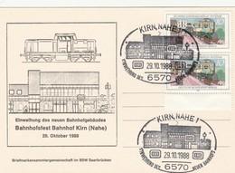 Cartolina - Postcard /   Viaggiata -   Sent . / Germania, Cartolina Con Annullo Speciale Kirn,Nahe 1 - Gares - Avec Trains